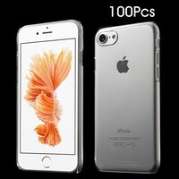 100Pcs Lot Cover For IPhone7 Cover Bag Glossy Crystal Clear PC Hard Case For IPhone 7