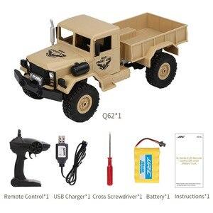 Image 5 - JJRC Q62 1:16 4wd rc auto carta militare arrampicata auto off road del veicolo di simulazione militare modello di arrampicata off  strada del veicolo