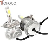 2pcs Set 6000LM 60W Car LED Headlights H4 Conversion Hi Lo Beam Bulb 6000K White Lights