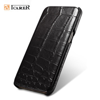 For Samsung Galaxy S7 Edge Genuine Leather Cover Crocodile Pattern Real Cow Skin Case For Samsung