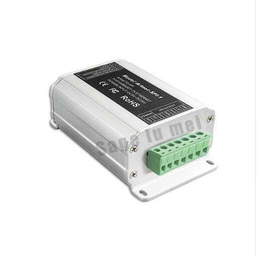 Livraison rapide artnet-spi convertisseur; DC5V-24V entrée SPI (TTL) sortie de signal numérique pour WS2811/WS2812/TM1809/led bandes lumineuses