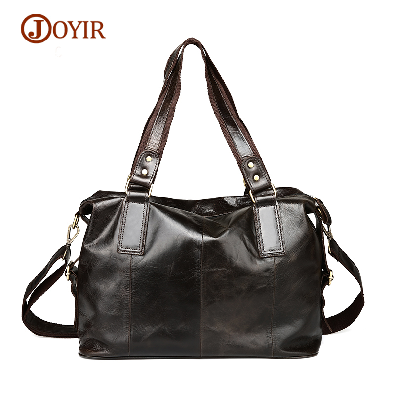 JOYIR Men Tote Bags Casual Genuine Leather Men Handbag Leather Male Crossbody Bag Cowhide Shoulder Bags Messenger Men Bag senkey style simple fashion genuine leather men bags high quality men s crossbody bag male casual handbag shoulder messenger bag
