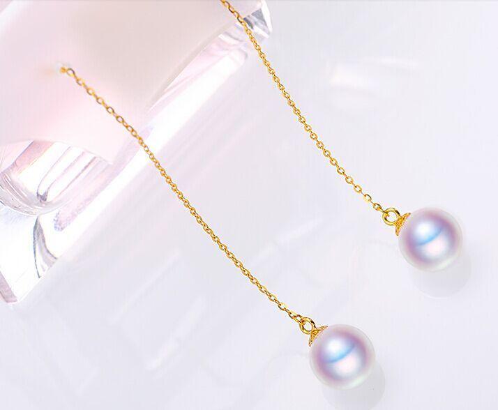 gorgeous 10-11mm south sea round white pearl earring 14kgorgeous 10-11mm south sea round white pearl earring 14k