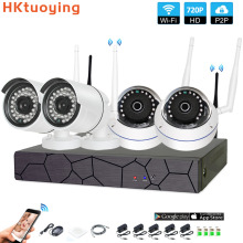 4CH CCTV System Wireless 720P NVR 4PCS 1.0MP IR Outdoor indoor P2P Wifi IP CCTV Security Camera System Surveillance Kit цены онлайн