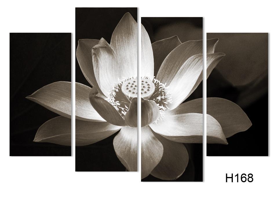 4panel Moderna zidna umjetnička dekoracija ispisana cvjetnim uljem - Kućni dekor - Foto 3