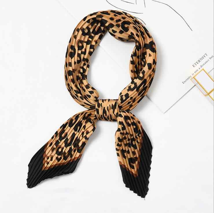 Yishine, шейный шарф с морщинами, женские сексуальные леопардовые принты, модный креп-платок, шарфы, Новый ободок, мнущийся руль, шарф