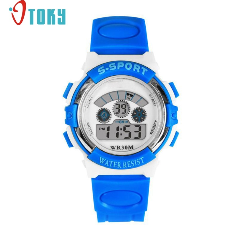 Hot Hothot LED Wrist Watch Mens Waterproof Boys LED Digital Quartz Alarm Date Sports at2 Dropshipping hot hothot sales colorful boys girls students time electronic digital wrist sport watch free shipping at2 dropshipping li