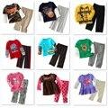 2017 Marca Novos Meninos Roupas set Crianças Pijamas Ternos Crianças Esporte Terno Meninas Define Vestuário T-shirt Calças Menina Calça Agasalho