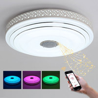White AC110V 220V Modern LED Ceiling Light For Living room Bedroom Luminaires Ceiling Lamp With Bluetooth Contorl Color or Music