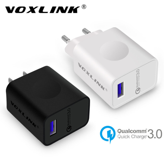 [Qualcomm Certified] VOXLINK Fast USB Charger 18W Quick Charge QC3.0 2.0 USB Wall Charger For Nexus 6/HTC One A9/LG/Sony & more