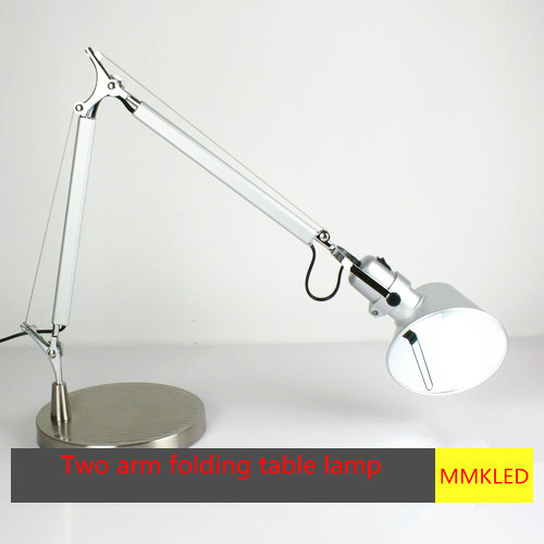 Раскладной алюминий стол лампа студенты рабочий рединг спальня ночники лампа E27 ac110-240v, 36 + 41 см
