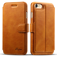 REFUNNEY Delicate Smooth Touch Luxury Flip Leather Wallet Case For IPhone 6 6s Plus Phone Cover