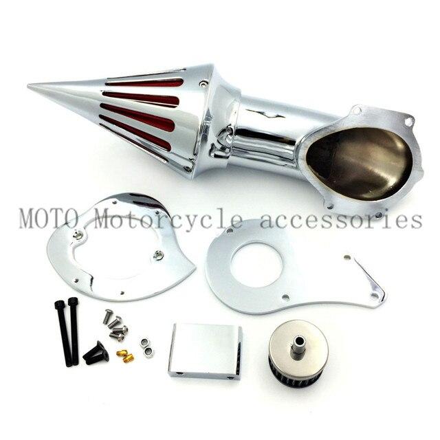 Filtros de aire de la motocicleta y sistema para honda shadow 600/vlx 600 1999 y el rendimiento del filtro del filtro de aire de metal conjunto del filtro de aire
