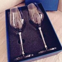 2 шт. камнями вина с шампанским Стекло элегантный бокал шампанского флейты вина Стекло 350 мл/470 мл