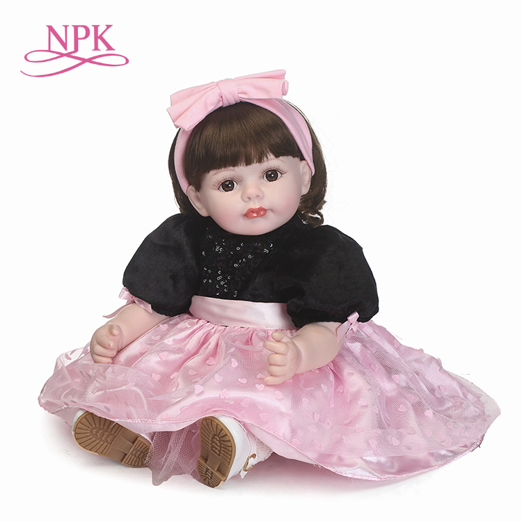 NPK simulation reborn baby doll soft real gentle touch childrens Gift with beautiful clothes and wig hairNPK simulation reborn baby doll soft real gentle touch childrens Gift with beautiful clothes and wig hair