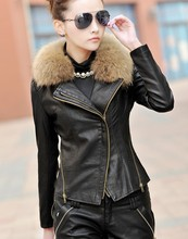 2016 new autumn and winter lady coats girls leather jackets female outerwear short jacket women's leather clothing