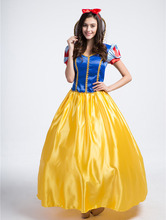 Ensen Europe Snow White princess carnaval costume long dress fantasia adulto Halloween role playing font b
