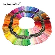 Lucia crafts 100 шт, 1 цвет/шт нить для вышивки хлопок нитки для вышивки крестом нить шитье, моток пряжи аксессуары ручной работы 089153
