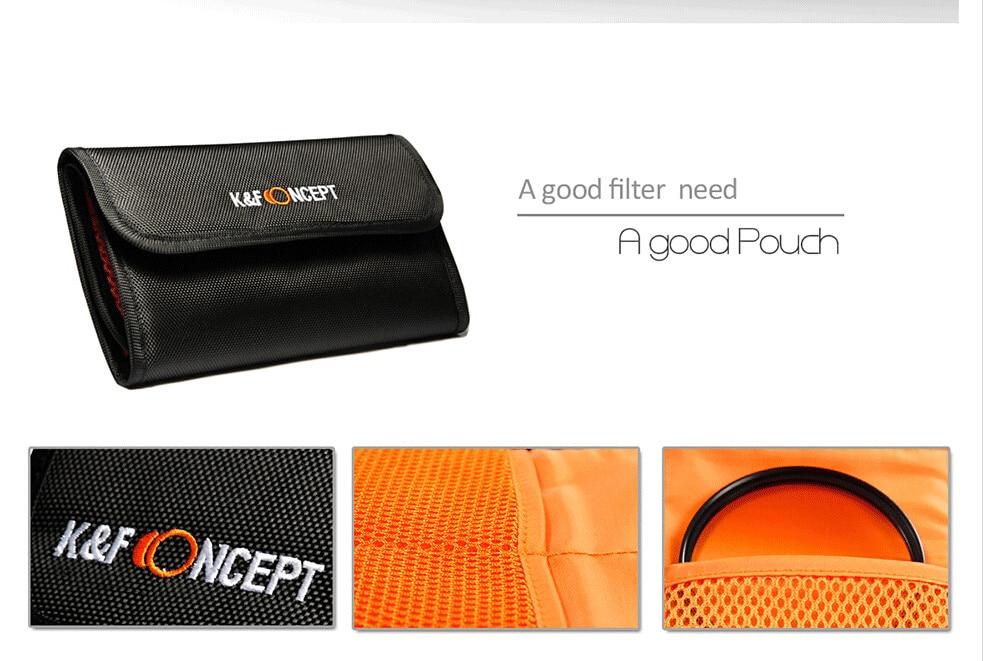 UV CPL FLD ND2 ND4 ND8 Lens Camera Filter Kit(52 58 62 67 72 77mm)+Lens Hood+Lens Cap+Cloth For Canon for Nikon for Sony etc. 7