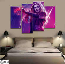 Hot Sales Without Frame 4 Panels Picture Marvel Scarlet Witch Film Canvas Print Painting Artwork Wall Wholesale