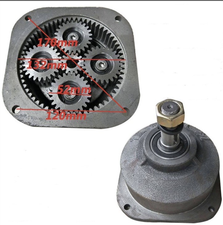 1set Center Gear:14t . Planet Gear:24t  Electric Tricycle Motor Gearbox Motor Head Reducer Assembly
