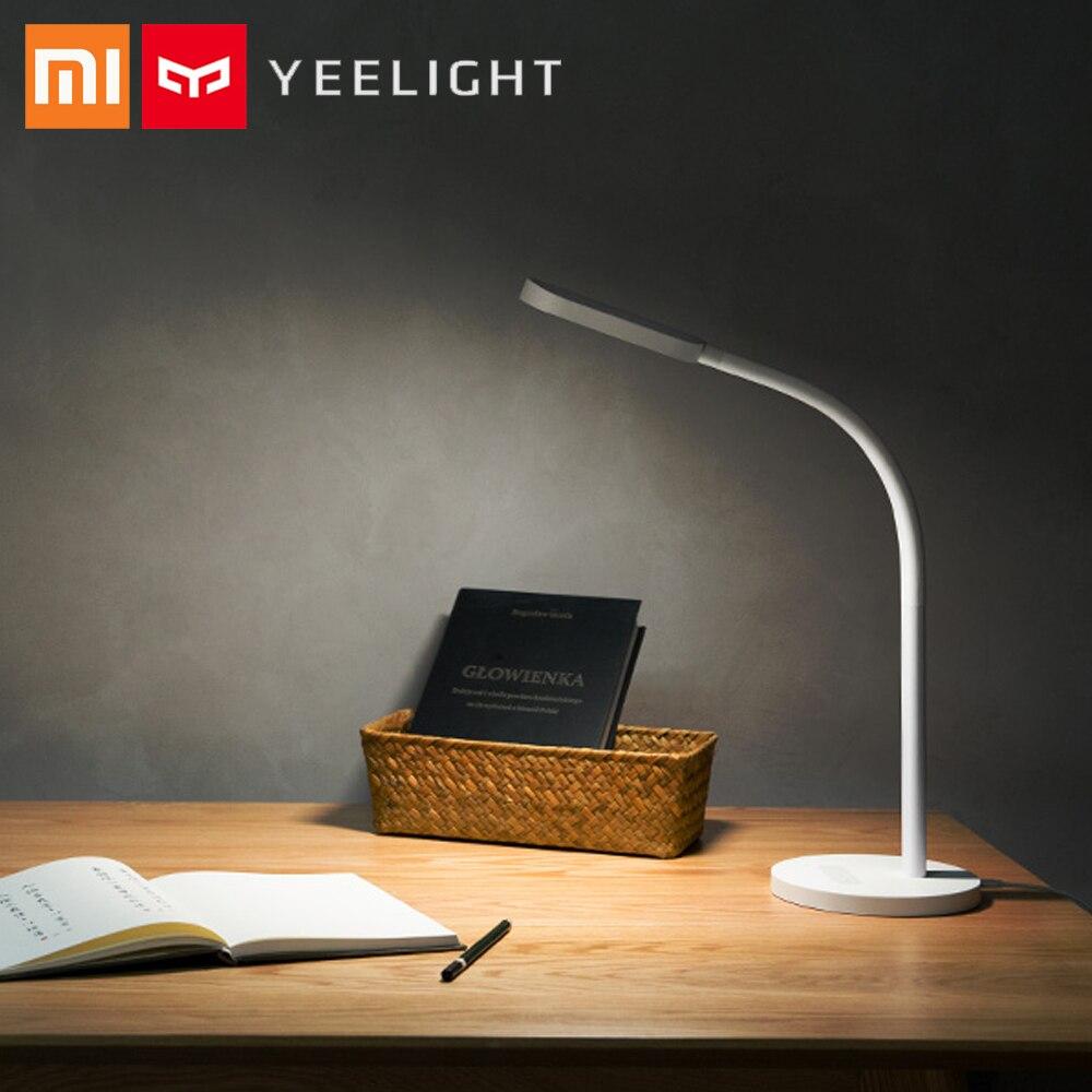 Xiaomi yeeсветодио дный Light светодиодный сенсорный 2700-6500 К яркость цвет 5 светодио дный Режим Регулируемый светодиодный стол прикроватная лампа ...