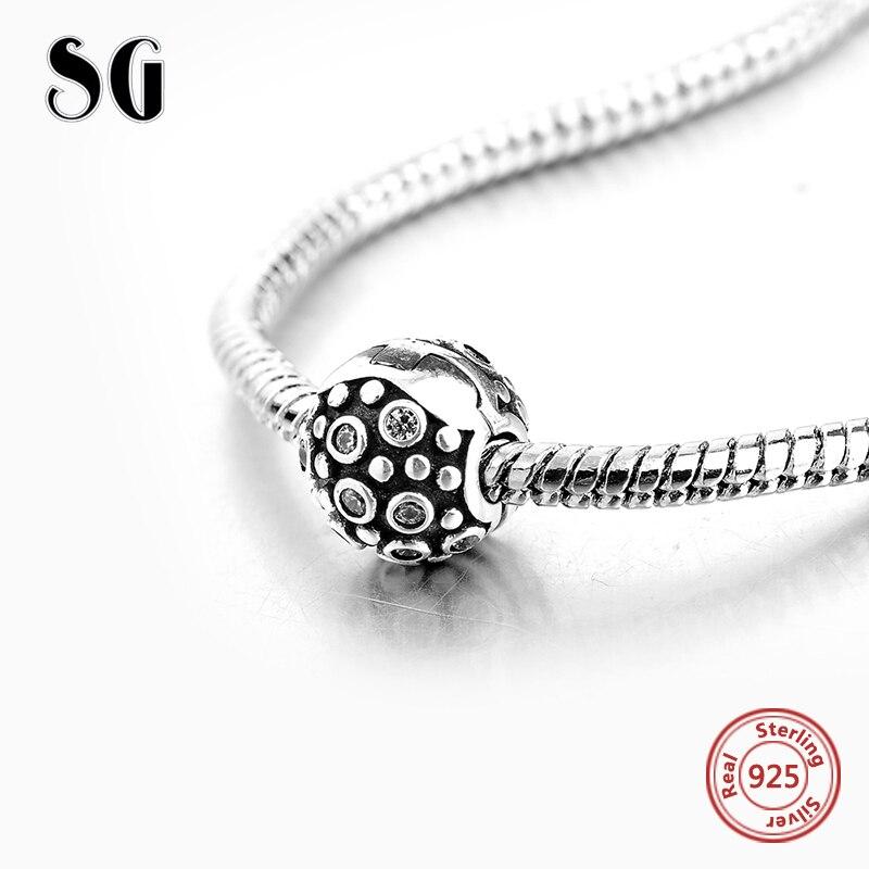 925 zilveren charme clip Fit originele Europese Charms armband met - Mode-sieraden - Foto 2