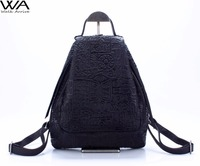Walk Arrive Genuine Leather Women Backpack Oracle Embossed Cow Leather Vintage School Bag Fashion Travel Bag Special Design