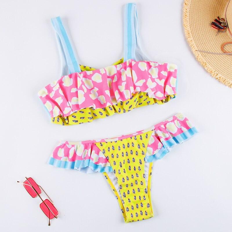 HTB1RvWZbwFY.1VjSZFqq6ydbXXaT Dot Patchwork Bandeau Bikini 2019 High Quality Push Up Bikinis Female Bikini Set Swimsuit Women'S Beach Feminino May Biquinis