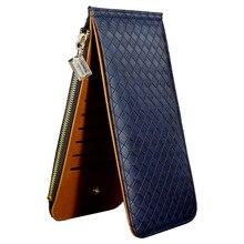 Mode véritable portefeuille en cuir avec fermeture à glissière poche monnaie portefeuille femme sac à main en cuir pour femmes porte – cartes longues femmes portefeuilles