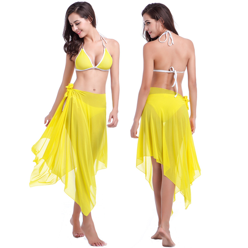 2017 Swimwear Girls Sexy Bikini Sunscreen Women Bathing Suit Cover Ups Bikini Multi Wear Ways Push Up Bikini Sets Long Sleeve