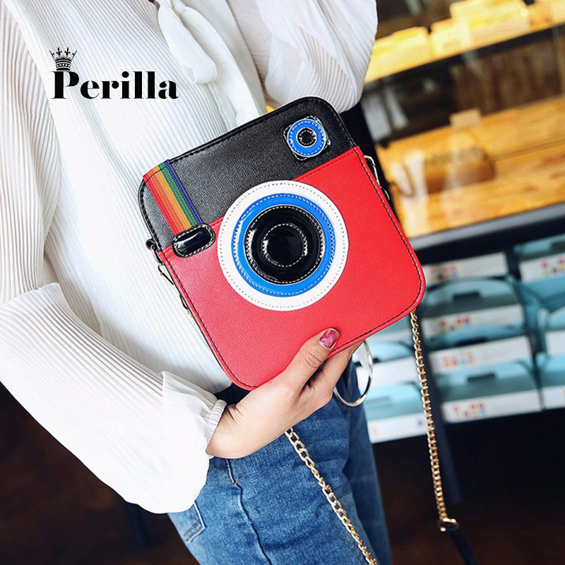Perilla Women Bags Luxury Brand Designer 2017 Vintage Fashion Camera Shoulder bag handbag chain messenger female crossbody bag denim vintage quilted across bag women s blue jean plaid stylish brand fashion flap chain crossbody shoulder bag purse handbag