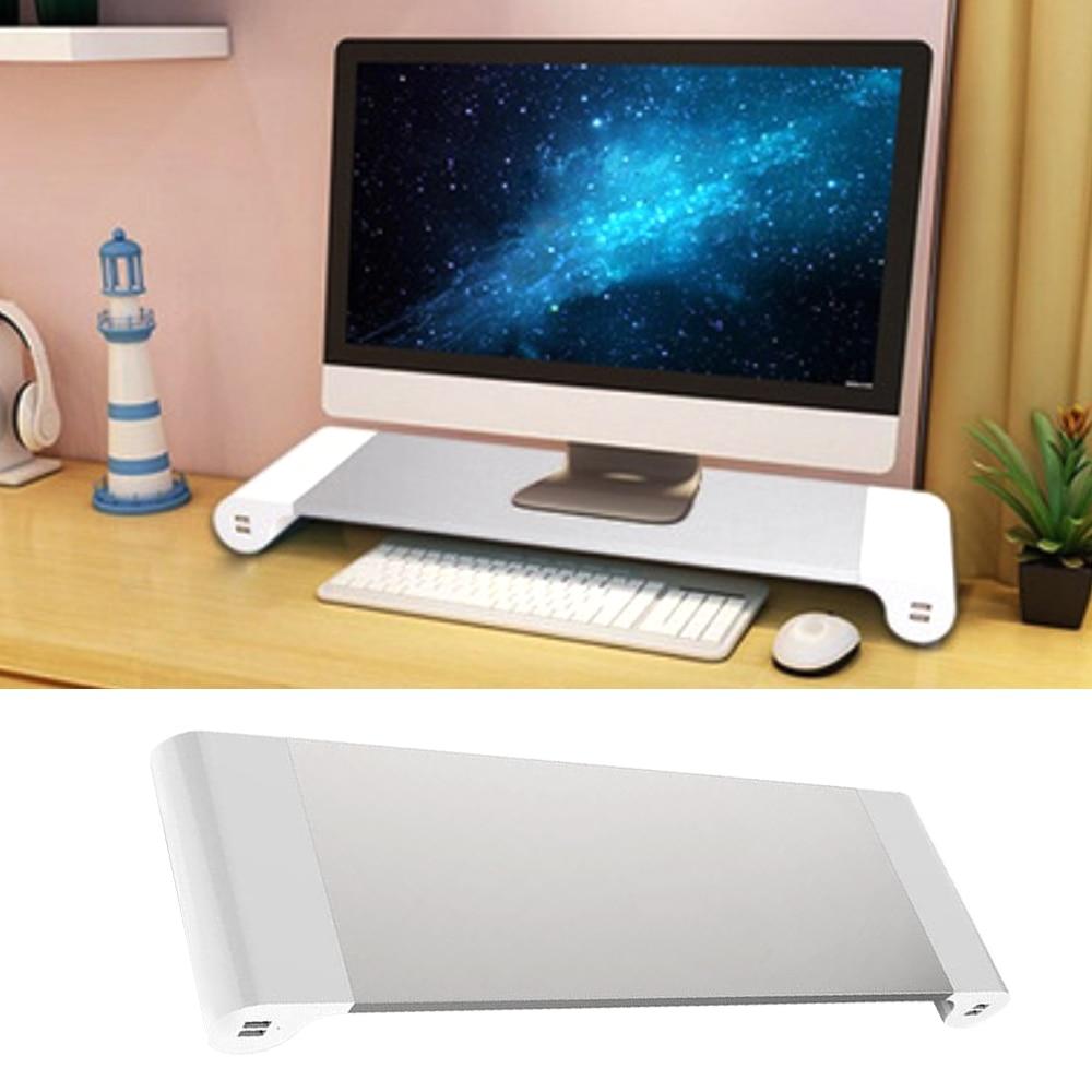 Cheap desktop computer - Besegad Aluminum Alloy Metal Monitor Stand Space Bar Dock Desk Riser With 4 Usb Ports For Imac Macbook Computer Laptop Gadgets