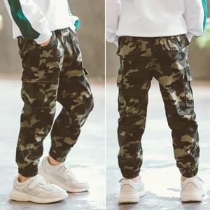 Image 2 - Chłopięce spodnie spodnie sportowe chłopięce spodnie kamuflażowe bawełniane 2020 wiosenne jesienne spodnie dla dzieci Boys Baby Casual spodnie 10 12 lat spodnie dla dzieci