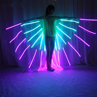 Новое поступление, RGB светодиодный костюм с крыльями, светодиодный костюм, Bdancing wings, DJ крыло, балетная пачка для девушек, Светящиеся Крылья