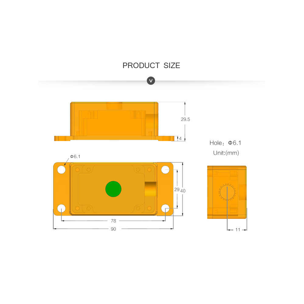 medium resolution of  2 axis ahrs high precision waterproof anti vibration mpu 6050 angle inclination alarm relay