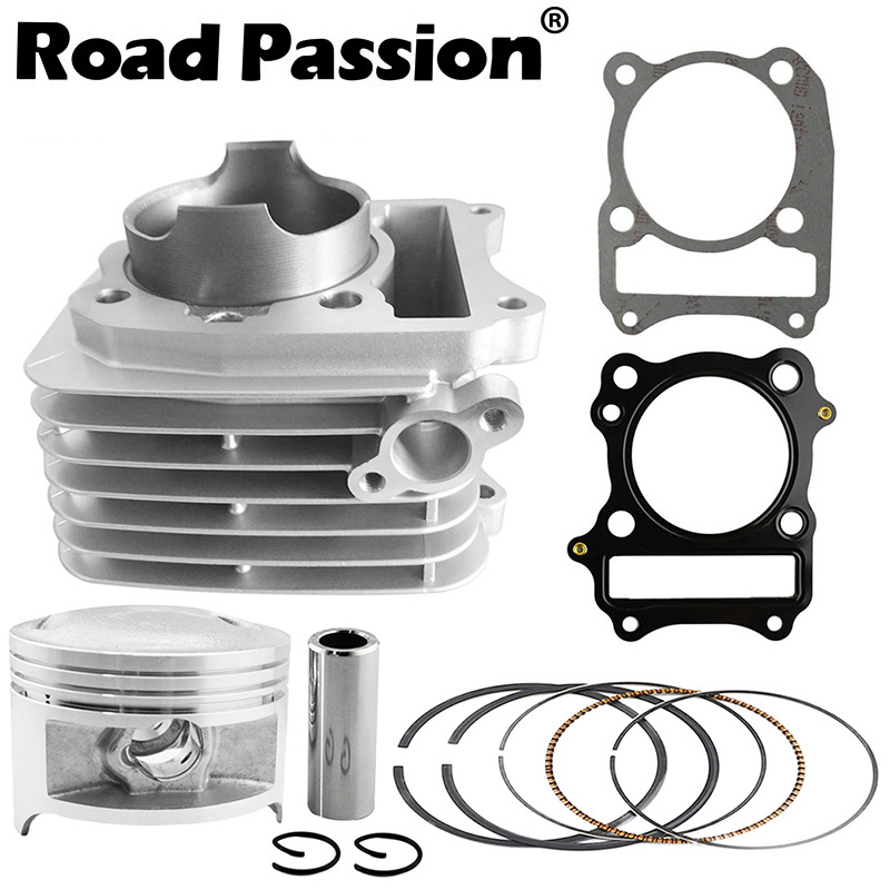 Road Passion Motorcycle Engine Cylinder + Piston + Rings 66mm (Cylinder diameter) For SUZUKI DR200 DF200 1996 2009 VAN 200