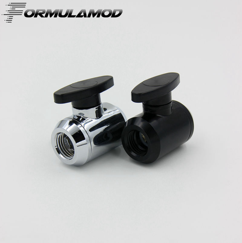 FormulaMod Mini Valve With  double inner thread double female part for water cooling computer. TLQFS-V1 water gas control 1 4 female to female thread level handle full port ball valve zmm