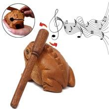Dinheiro Sapo Sorte Clackers Crianças Brinquedo Musical Instrumento de Percussão de madeira Presente