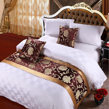 yazi Peony Bunga Bed Table Runner Hotel Bedroom Cotton Throw Scarf Sarung 50x180cm