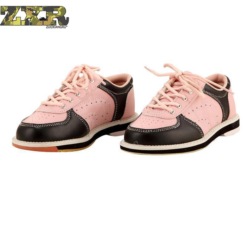 Unisex Men Women Skidproof Sole Professional Sports Bowling Shoes Slip Sneakers Couple Models Breathable Slip Training