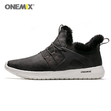 Onemix Men's Running Shoes Winter men Sneakers Trainers Outdoor Athletic sports Shoes for men walking sneakers Warm Men Boot onemix man running shoes for men lightweight athletic trainers black zapatillas sports shoe outdoor walking sneakers free ship