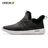 Onemix Men's Running Shoes Winter men Sneakers Trainers Outdoor Athletic sports Shoes for men walking sneakers Warm Men Boot