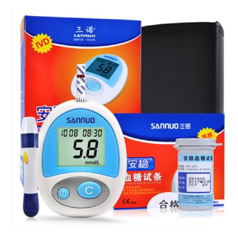 Тестове за измерване на кръвна захар Sannuo Измерване на измерване на кръвна захар за измерване на кръвна захар