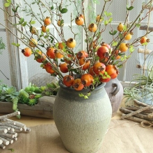 10 Pcs Artificial Branch for Decoration Simulation Artificial Pomegranate Branch Foam Pomegranate Bouquet Fake Pomegranate Bush
