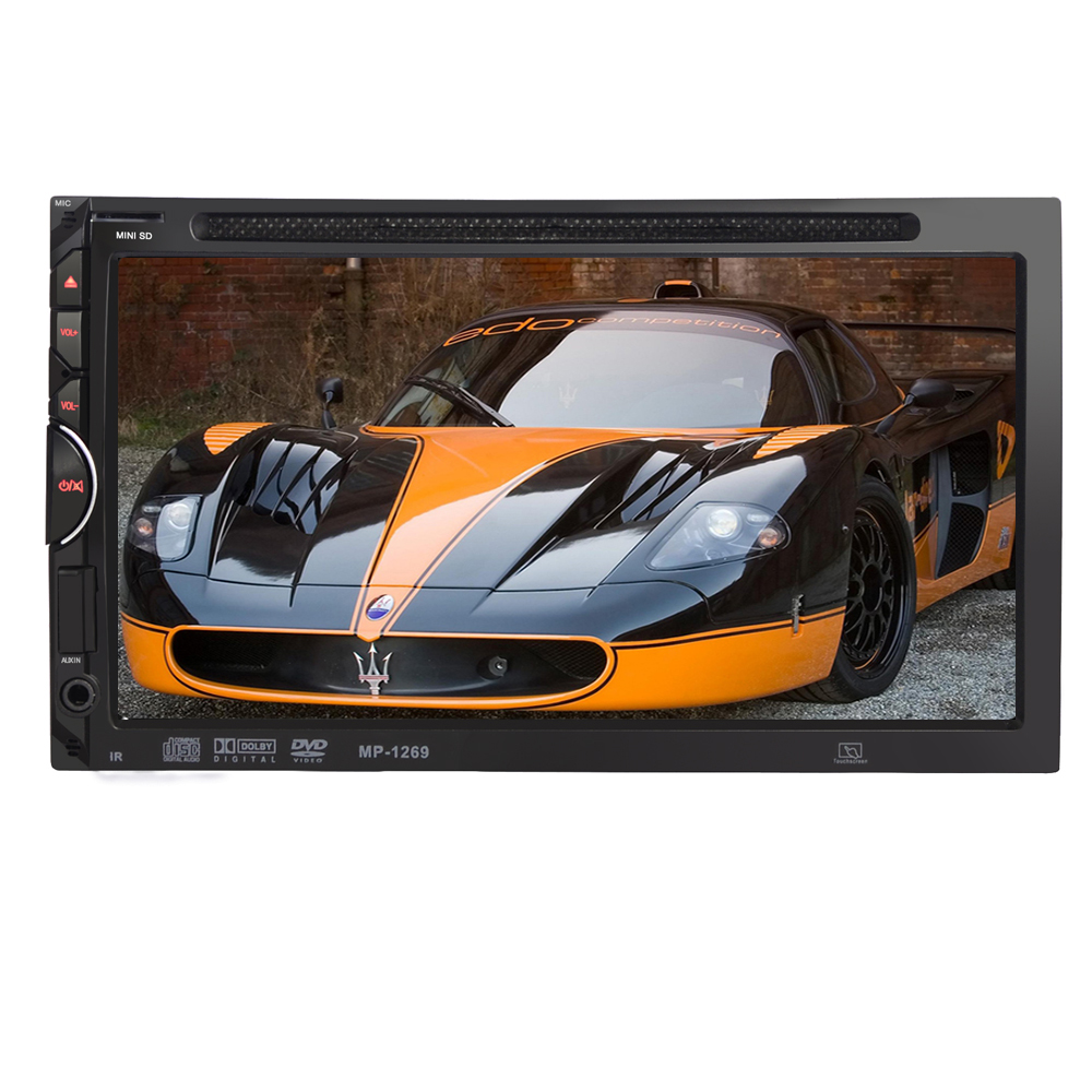 BYNCG MP1269 7 Universal 2 Din HD Car DVD Player Touch Screen Bluetooth USB/TF FM Aux AutoRadio Multimedia player 7 hd 2din car stereo bluetooth mp5 player gps navigation support tf usb aux fm radio rearview camera fm radio usb tf aux