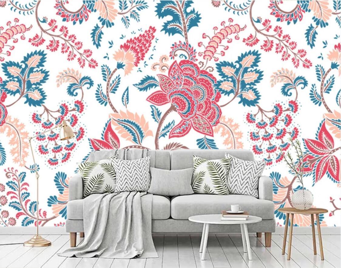 3d Vintage Watercolor Flower Wallpaper Wall Mural Indoor For