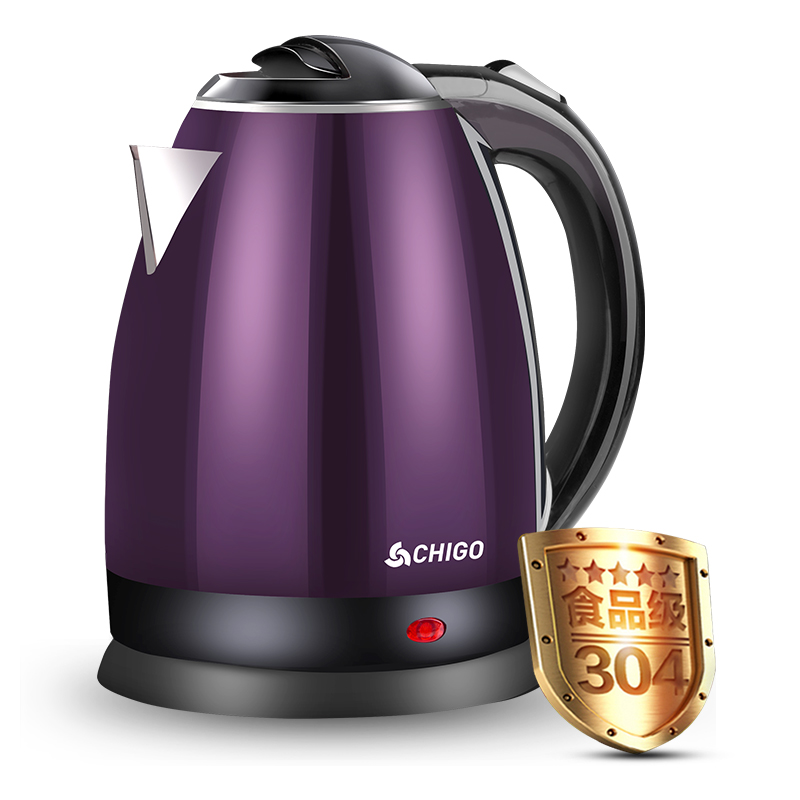 Household electric kettle food-grade 304 stainless steel 220v household 1 2l electric kettle food grade 304 stainless steel inner anti scald material fast boiling eu au uk plug