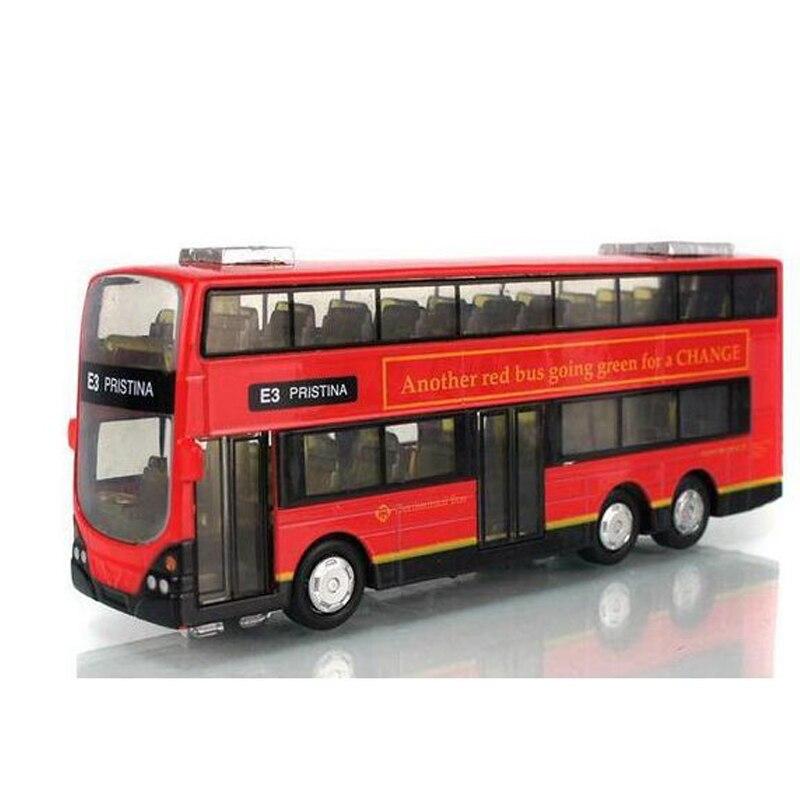 In Stock Sale 1:43 Mini Alloy Car Pull Back London Double Decker Bus ...