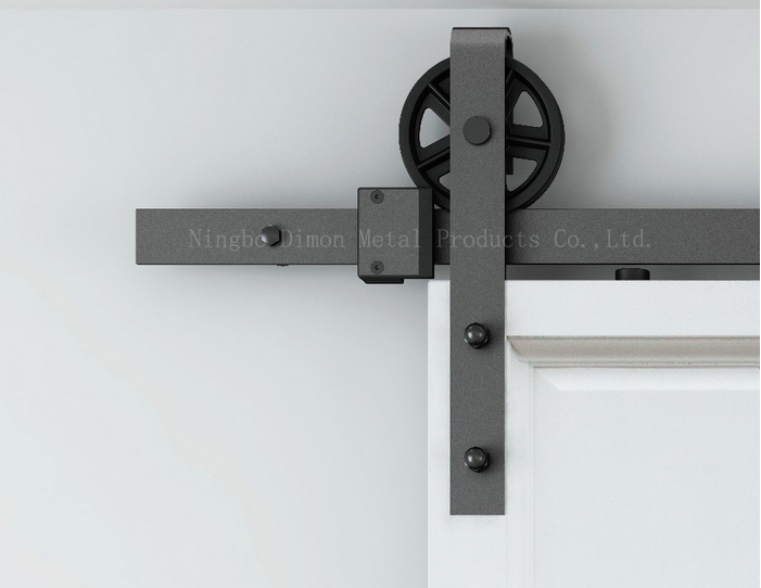 Dimon customized sliding door hardware with damper kits wood door hardware DM-SDU 7210 with soft close (without sliding track)